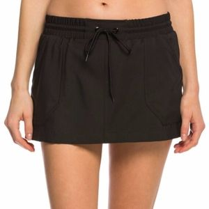 Jag Drawstring Mini Swim Board Skirt Black